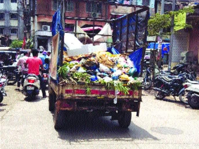 Frozen trash 'unfinished' in bhiwandi | भिवंडीतील कचरागाड्या 'अनफिट'