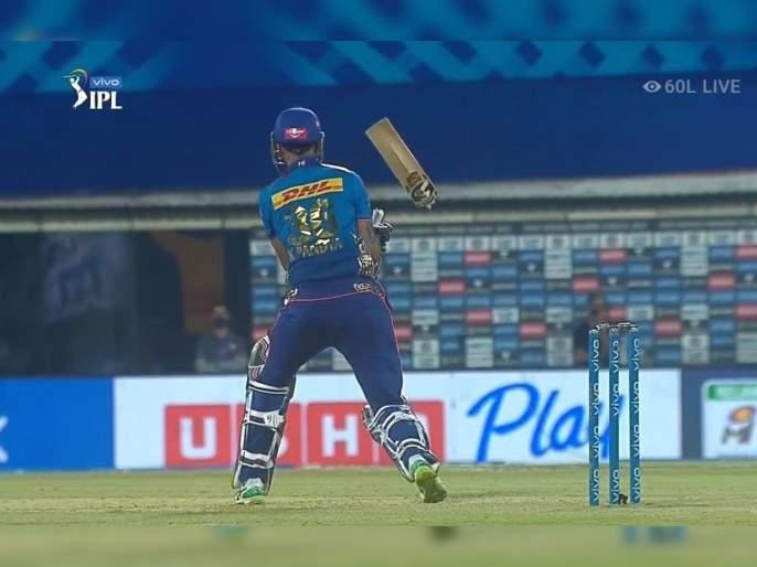 IPL 2021 Mi vs RCB Live T20 Score: Breaking bat, the Kyle Jamieson way, Krunal Pandya Bat Break, Watch video | IPL 2021 : MI vs RCB T20 Live : बाबो!, १५ कोटींच्या कायले जेमिन्सनच्या वेगानं कृणाल पांड्याच्या बॅटीचे दोन तुकडे, Video