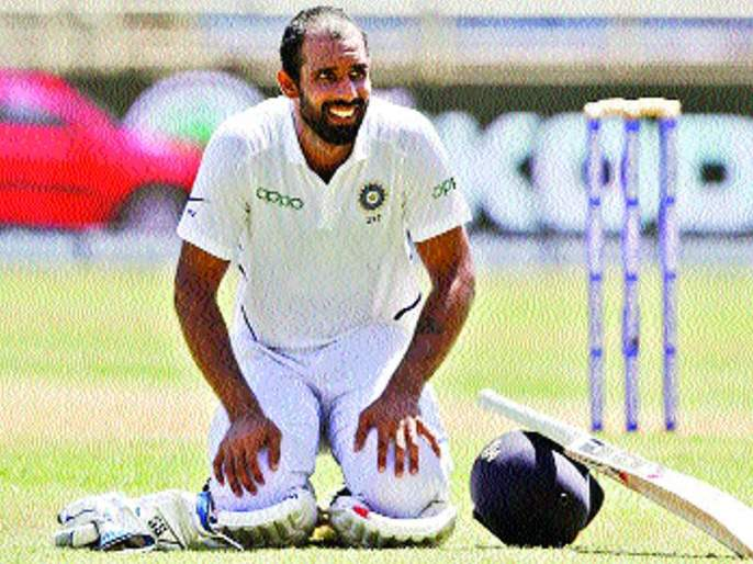 'Every Test match plays to an understanding', hanuma vihari   'प्रत्येक कसोटी सामना अखेरचा समजून खेळतो'