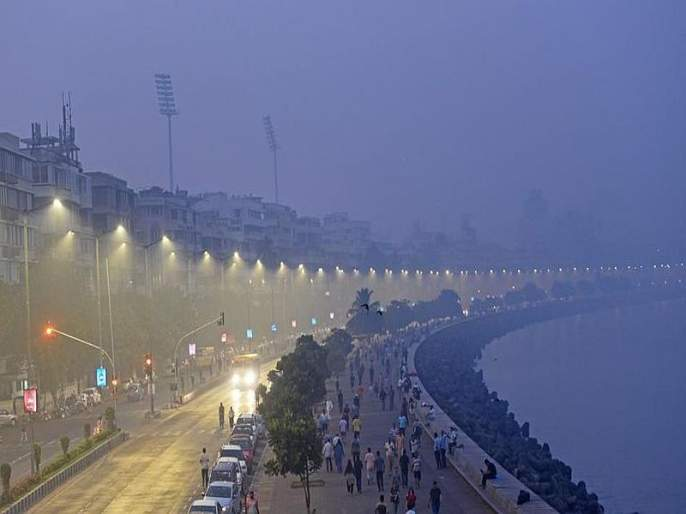 hot climate in Ghatkopar ; Mazgaon, Dadar 28, Chembur and Powai 18 degrees | माझगाव, दादर २८, चेंबूर आणि पवई १८ अंशावर घाटकोपर 'ऊबदार'