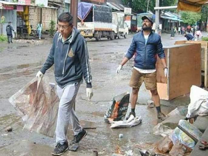 This is the true sanitation campaign, while removing the garbage from Kolhapur, the Municipal Commissioner mallinath kalshetty | हेच खरं 'स्वच्छता अभियान', कोल्हापूरचा कचरा साफ करतायंत महापालिका आयुक्त