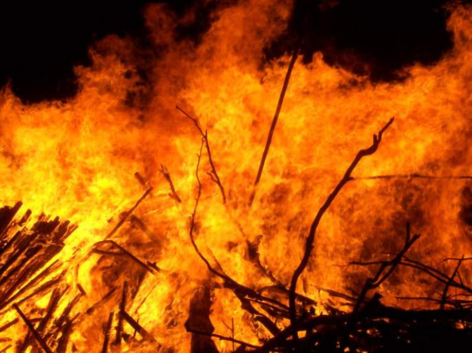Fire to four wood warehouses   लाकडाच्या चार वखारींना आग