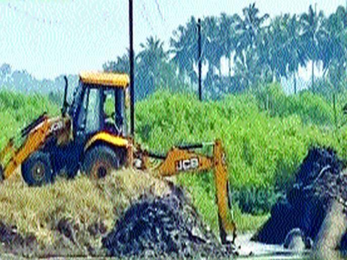 Action on encroachment on wetlands; 19 shrimp projects demolished | पाणथळ जागेवरील अतिक्रमणावर कारवाई; १९ कोळंबी प्रकल्प तोडले