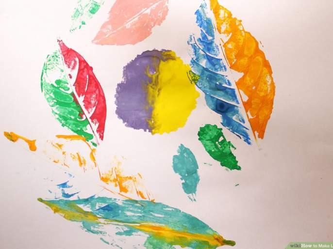 make leaf prints - DIY - stay at home | लाटण्याने लाटून पानांचं चित्र काढायचं का?