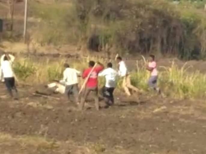 Four injured in leopard attack   बिबट्याच्या हल्ल्यात चौघे जखमी