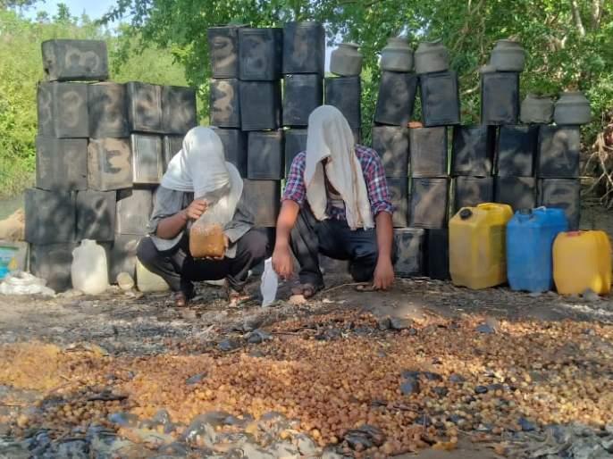Special squad raided on illegal liquor barracks | विशेष पथकाच्या छापेमारीत दारू अड्डे उध्वस्त