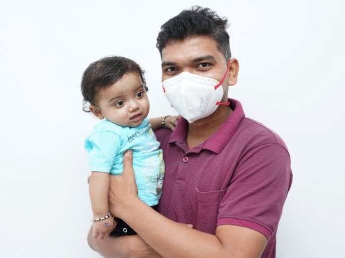 Father donates liver to eight-month-old baby   आठ महिन्यांच्या बाळाला वडिलांनी केले यकृत दान
