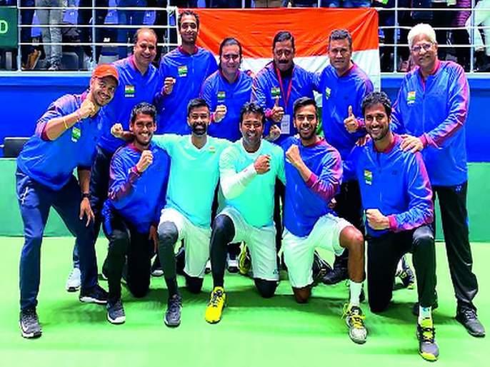 Pakistan's eruption from India; Leander celebrated a record 7th win in doubles | भारताकडून पाकिस्तानचा धुव्वा; लिअँडरने दुहेरीत साजरा केला विक्रमी ४४वा विजय
