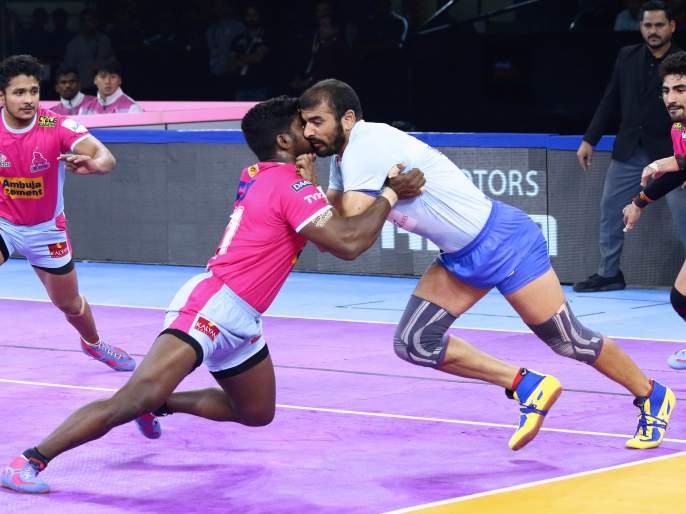 Pro Kabaddi: Jaipur Pink Panthers win in conditional clash | प्रो कबड्डी : अटीतटीच्या लढतीत जयपूर पिंक पँथर्सचा विजय