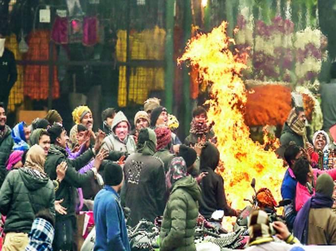 Cold conditions in Punjab, Haryana, Kashmir and Delhi drop in temperature   पंजाब, हरयाणा, काश्मीरमध्ये थंडीचा कडाका, दिल्लीत तापमानात घसरण