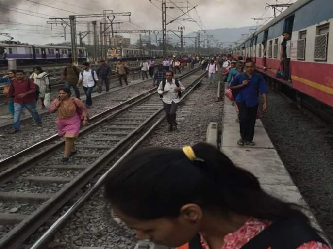 Stalled on the Central Railway route, local traffic disrupted | मध्य रेल्वे मार्गावर रुळाला तडा, लोकल वाहतूक विस्कळीत