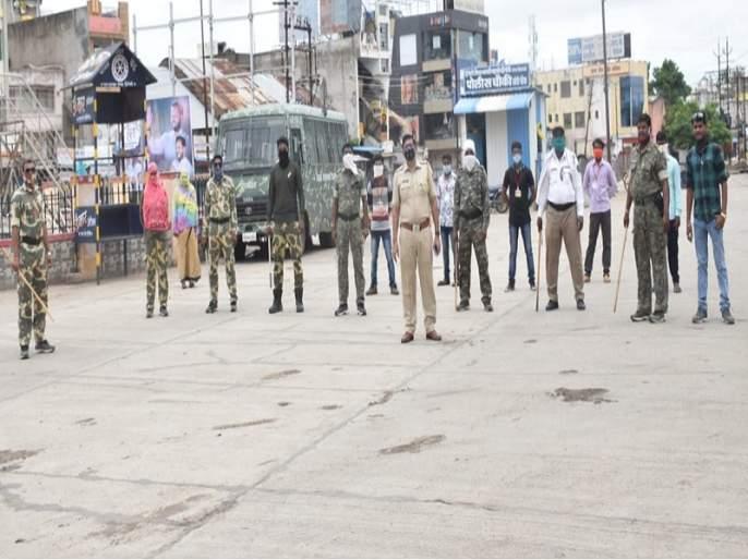 Lockdown: Everything is closed on the first day of curfew in Hingoli | Lockdown : हिंगोलीत संचारबंदीच्या पहिल्या दिवशी शुकशुकाट
