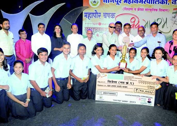 Modern School, School of Scholars and Sandipani got Mayor's Standard | मॉडर्न स्कूल, स्कूल ऑफ स्कॉलर्स व सांदीपनी महापौर चषकाचे मानकरी