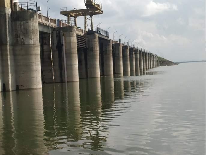 Majalgaon Dam at 12 %; Water level increased by 1 meters in 15 days | माजलगाव धरण १२ टक्क्यांवर; १५ दिवसात १ मीटरने पाणी पातळी वाढली