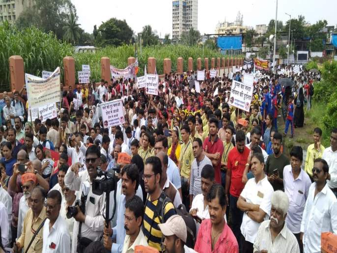 BJP gets down on the road against drug mafia in malvani | नशामुक्त मालवणीसाठी ड्रग्जमाफियांविरोधात भाजप उतरली रस्त्यावर!