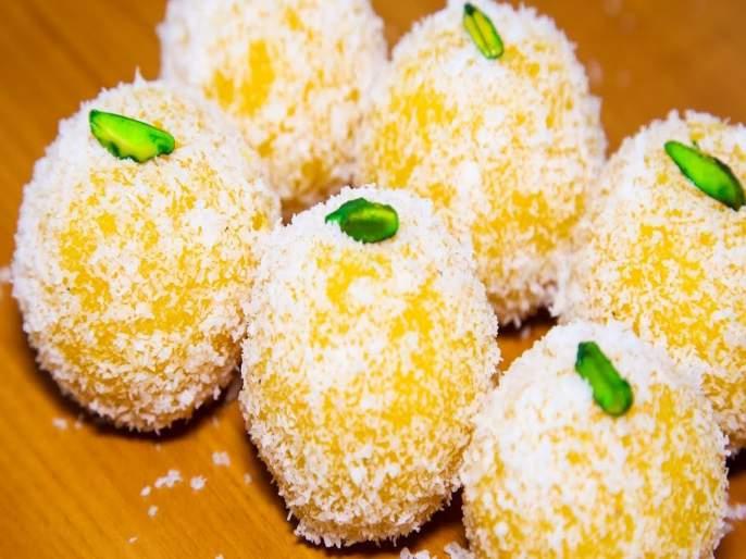 Recipe of Mango Ladoo or How to make aambyache laado | मिल्कशेक तर सगळेच पितात; कधी आंब्याचा लाडू खाऊन पाहा!