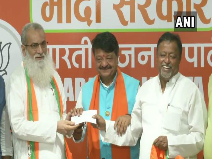 Trinamool Congress MLA Manirul Islam joins Bharatiya Janata Party in Delhi   ममतांना पुन्हा झटका; 24 तासात तिसरा आमदार भाजपात
