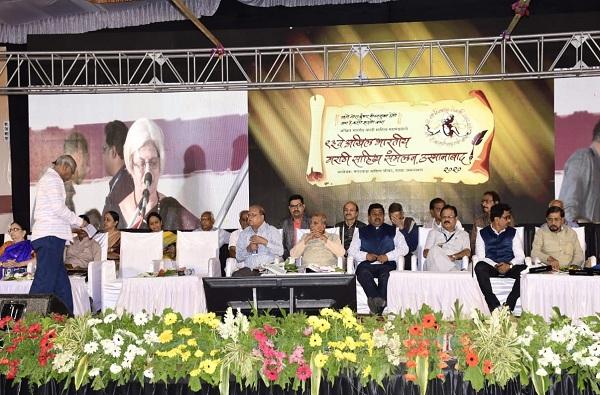 Karnataka government protests border crossing; Resolution in open session of Marathi Literature Conference | सीमाप्रश्नी कर्नाटक सरकारचा निषेध;मराठी साहित्य संमेलनातील खुल्या अधिवेशनात ठराव