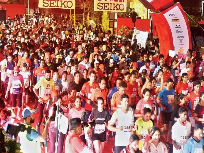 Mumbai Marathon 2019 : Huge response to the Mumbai Marathon | Mumbai Marathon : मुंबई मॅरेथॉनला अफाट प्रतिसाद