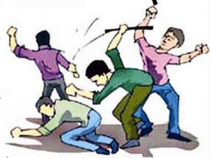 beat by the rod and koyta a gold chain theft | लोखंडी कोयता, रॉडने मारहाण करून सोनसाखळी लंपास