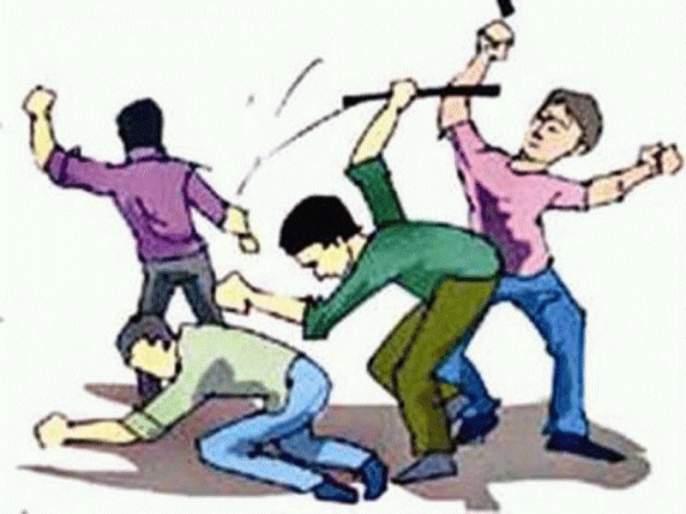 The mobile roberer hit youngster by an iron rod | लोखंडी रॉडने मारहाण करून मोबाईल पळवला