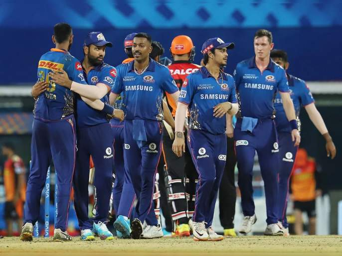 IPL 2021, MI vs SRH T20 Match Highlight : Mumbai Indians are now the table toppers, they beat SRH by 13 runs   IPL 2021, MI vs SRH T20 Match Highlight : राहुल चहरचा 'कहर', हार्दिक पांड्याचे दोन डायरेक्ट हिट अन् मुंबई इंडियन्स अव्वल!