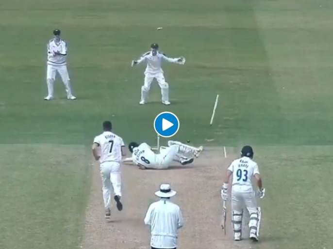 Yorkshire Matt Fisher bowled stunning yorker, Durham batsman no answer wath video | मॅट फिशरच्या 'यॉर्कर'समोर फलंदाजानं घातलं लोटांगण; पाहा भन्नाट व्हिडीओ