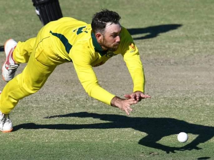 ICC World Cup 2019: Glen Maxwell done fantastic run out against run out   ICC World Cup 2019 : मॅक्सवेलचा भन्नाट रनआऊट आणि पाकिस्तानचे टाय टाय फिश...