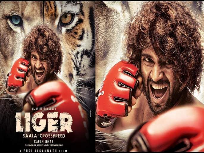 liger first look vijay deverakonda fans go mad as they pour alcohol on poster | हे जरा अतीच झालं! विजय देवरकोंडाच्या पोस्टरला चाहत्यांनी चक्क दारूनं घातली आंंघोळ