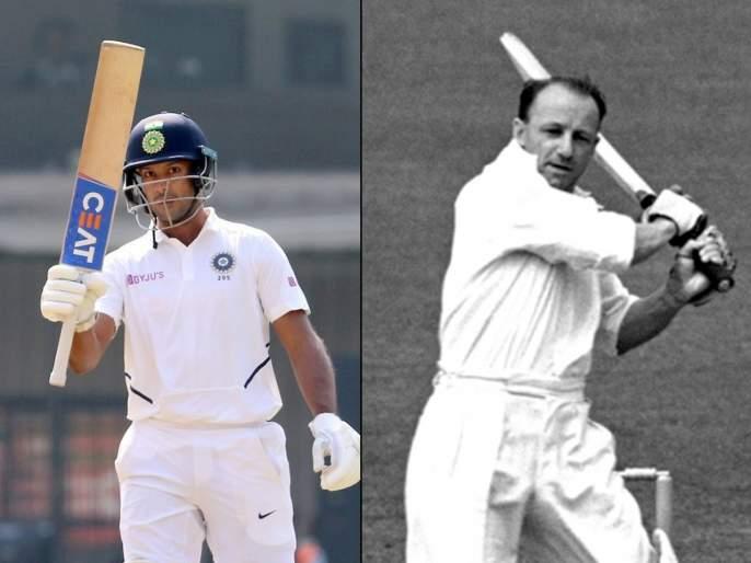 India vs Bangladesh, 1st Test: Mayank Agarwal broke Don Bradman record; Fewest Test innings to 2 double-centuries | India vs Bangladesh, 1st Test: मयांकनं मोडला सर डॉन ब्रॅडमन यांचा विक्रम; रोहित, वीरूच्या पावलावर पाऊल