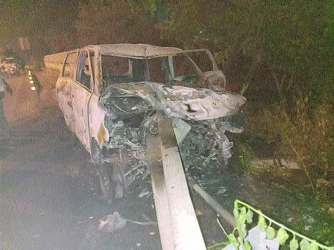 Accident on Palm Beach Road; One killed, two wounded | पाम बीच रोडवर भीषण अपघात;एक ठार, दोन जखमी