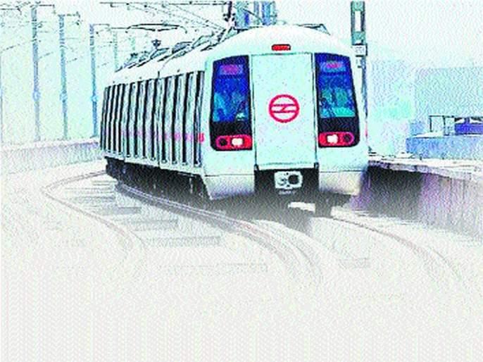 The construction of the girder was started on the Metro-4 route | मेट्रो-४ मार्गिकेवर गर्डर बसविण्याच्या कामाला सुरुवात