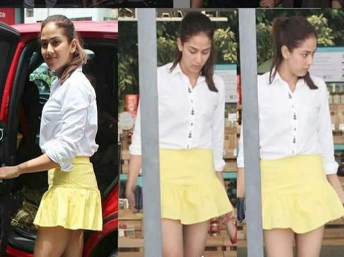 Meera Rajput Troll Due to this Short Skirt | मिनी स्कर्टमुळे ट्रोल झाली मीरा राजपूत, नेटीझन्स म्हणाले.......