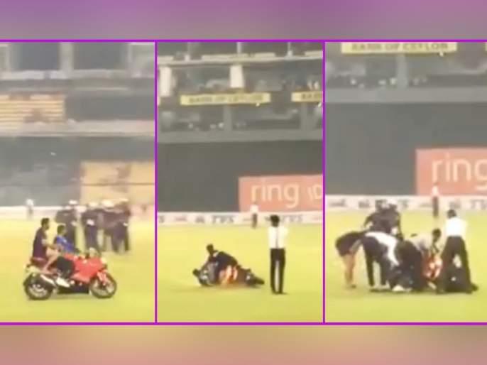 Kusal Mendis' Bike Slips While Celebrating Sri Lanka's ODI Series Win Over Bangladesh, Watch Viral Video | Video विजयाचा आनंद साजरा करताना 'या' क्रिकेटपटूची बाईक घसरली अन्...