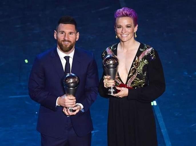 Messi, Rapino to be Best Footballer | मेस्सी, रेपीनो ठरले सर्वोत्कृष्ट फुटबॉलपटू