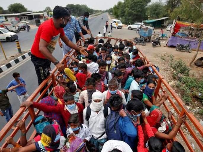 CoronaVirus Lockdown News Migrant workers return to the village | CoronaVirus Lockdown News: भीती कोरोनाची; स्थलांतरित कामगारांचे तांडेच्या तांडे पुन्हा गावाकडे