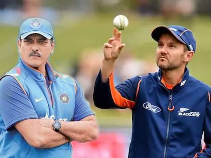 Ravi Shastri responds to Mike Hesson's tweet congratulating him for retaining head coach's role in Indian team | रवी शास्त्रींच्या फेरनियुक्तीनंतर माईक हेसन यांनी केलं ट्विट, म्हणाले...