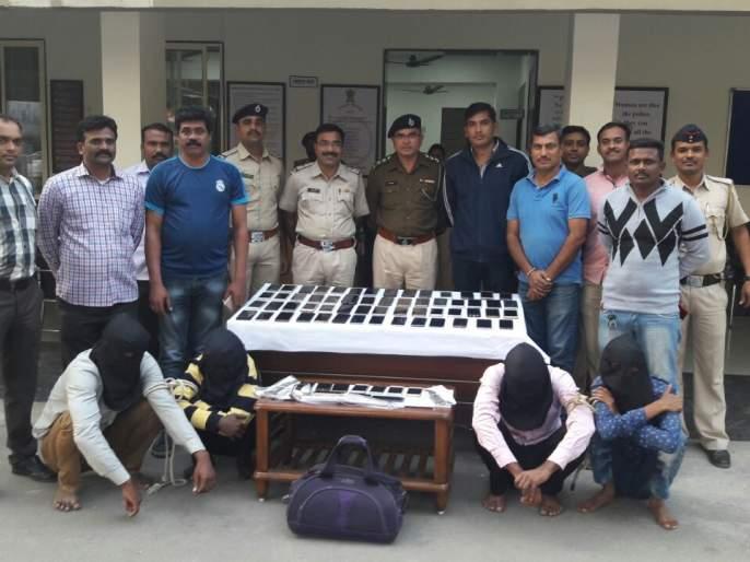 Accused arrested by Panvel police | पनवेल पोलिसांकडून ६३ मोबाइलसह आरोपी जेरबंद