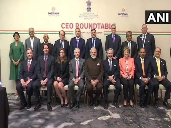 Video prime minister narendra modi meet ceos from the energy sector in houston | Video - ह्युस्टनमध्ये ऊर्जा क्षेत्रातील सीईओंशी मोदींची महत्त्वपूर्ण बैठक