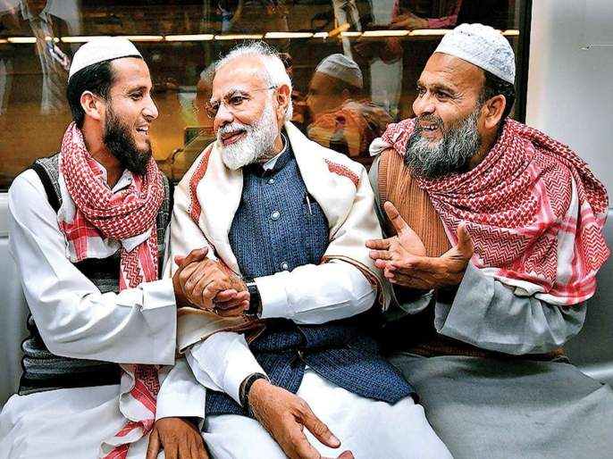 lok sabha election 2019 Bjp Wins 50 Percent Seats In Muslim Dominated Districts | मुस्लिमबहुल मतदारसंघांमध्येही भाजपा सुस्साट; 50 टक्क्यांहून अधिक जागा खिशात