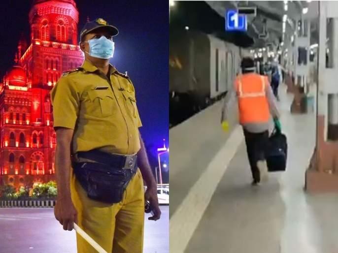 Mumbai Police Zindabad ... West Bengal workers shouted slogans in railway station MMG | Video : मुंबई पोलीस जिंदाबाद... अन् पश्चिम बंगालच्या मजुरांनी जोरजोरात केली घोषणाबाजी