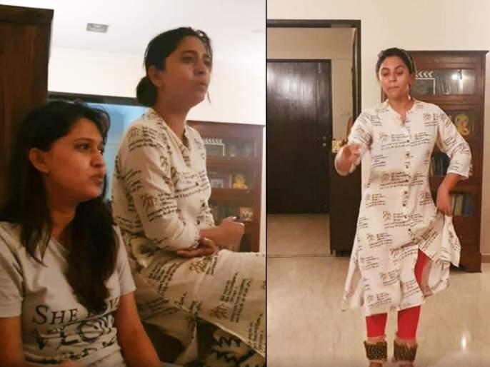 Mrunmayee Deshpande's never seen art through video   मृण्मयी देशपांडेमध्ये दडलेली ही कला आली जगासमोर, सोशल मीडियावरील व्हिडिओ पाहून फॅन्सही घायाळ