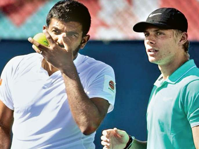Paris Masters Tennis Tournament: Bopanna in the semifinal round, out of refuge | पॅरिस मास्टर्स टेनिस स्पर्धा :बोपन्ना उपांत्यपूर्व फेरीत, शरण बाहेर