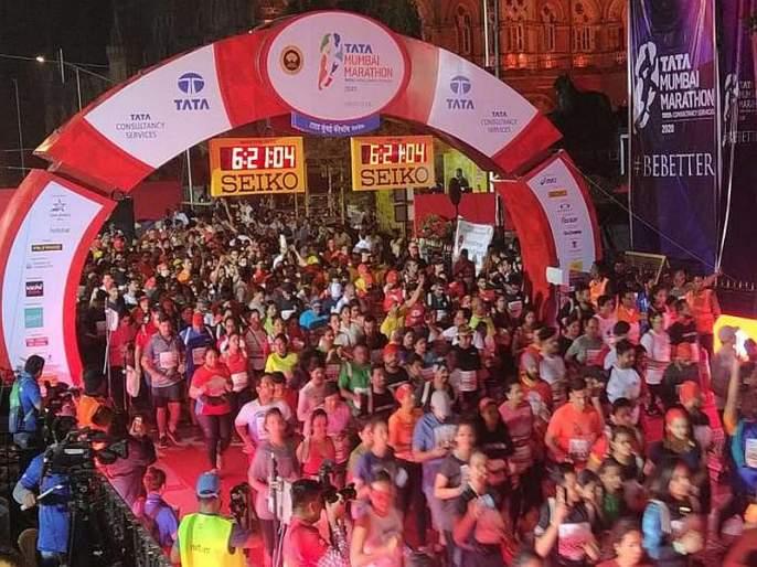 4 km into Mumbai Marathon, 64-year-old suffers cardiac arrest, dies | मुंबई मॅरेथॉनमध्ये धावपटूचा कार्डिएक अरेस्टने मृत्यू