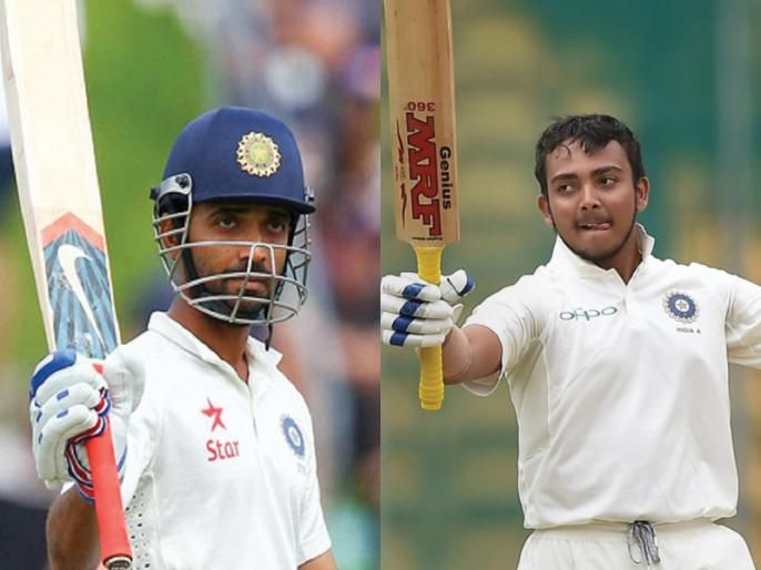 Prithvi Shaw to join India's vice-captain Ajinkya Rahane in one team | आता पृथ्वी शॉ भारताचा कसोटी संघाचा उप कर्णधार अजिंक्य रहाणेबरोबर मैदानात उतरणार