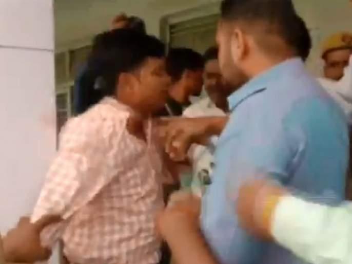 Shocking... Election Official was asking voters to press the 'cycle' symbol of Samajwadi party | Video : धक्कादायक...निवडणूक कर्मचारीच सांगत होता 'सायकलचे' बटण दाबा