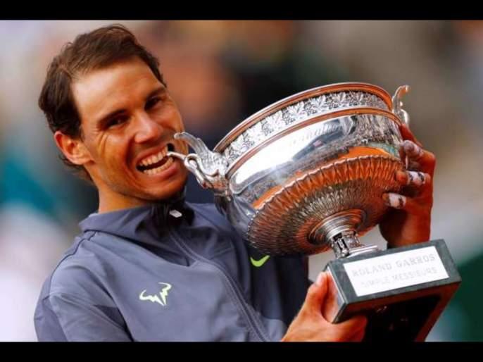 Rafael Nadal calls on Spain's athletes to raise 11 million euros to fight coronavirus svg   Corona Virus : देशवासीयांसाठी तब्बल 90 कोटी निधी गोळा करण्याचा 'लाल बादशाह'चा संकल्प!