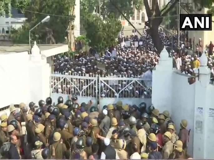 Citizenship Amendment Act :After Amu And Jamia Now Violent Protest In Lucknow Nadwa College Against Citizenship Law | CAA : नागरिकत्व कायद्याविरोधात विद्यार्थी आक्रमक; दिल्लीनंतर लखनऊ, हैदराबाद, मुंबईत आंदोलन