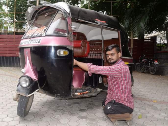 Coronavirus: Stubbornly overcomes difficult situations; Rickshaw rider fighting corona without legs! | Coronavirus: बिकट परिस्थितीवर जिद्दीने मात; पाय नसतानाही कोरोनाशी लढणारा रिक्षावाला!