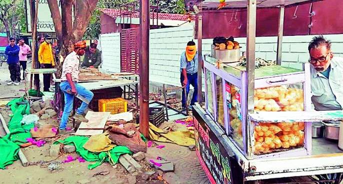 500 encroachments removed in Nagpur, 11 truckloads of materials seized, 32,000 fines recovered | नागपुरात ५०० अतिक्रमणे हटविली, ११ ट्रक साहित्य जप्त, ३२ हजार दंड वसूल